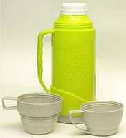 Термос с 2 чашками, 1л