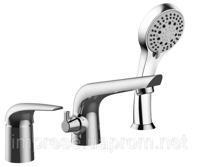 Смеситель для ванны врезной на три отверстия Krinice 85110