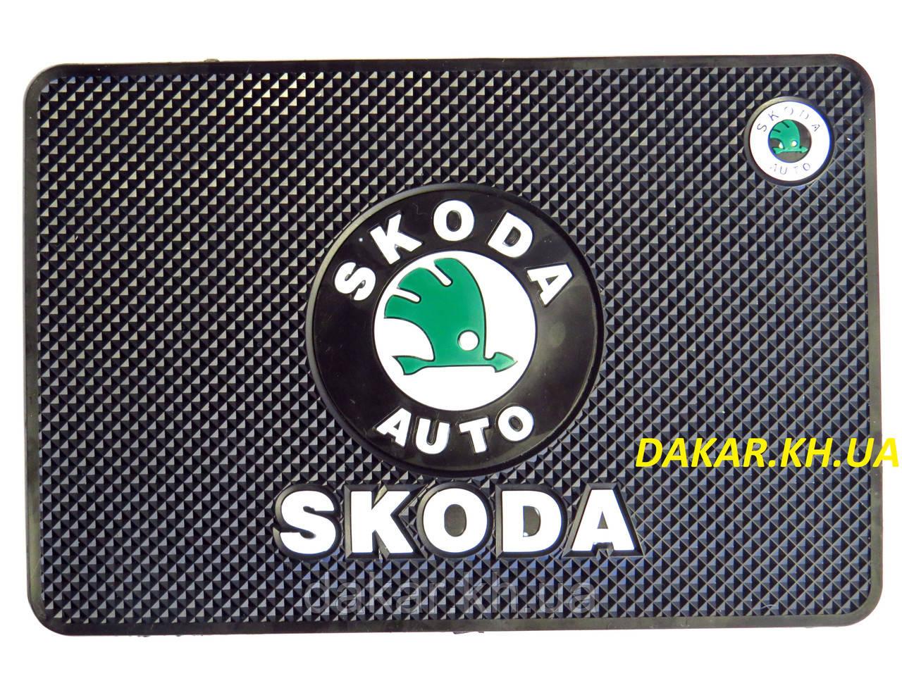 нескользящий коврик с логотипом skoda