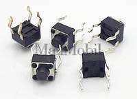 BD12 Кнопка тактовая DIP 4-pin 4.5x4.5x4.3 мм