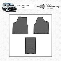 Коврики резиновые в салон Fiat Scudo c 2007- (3шт) Stingray