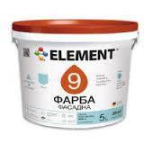 Фасадная краска матовая водно-дисперсионная для наружный работ ELEMENT 9 - 5 л.