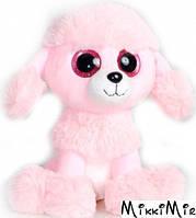 Пудель глазастик 22 см, Fancy, Розовый