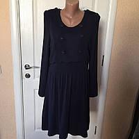 Платье женское осень-зима длинный рукав синее CacheCCache