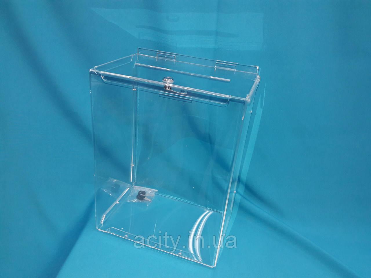 Коробка из оргстекла для пожертвований 2,5л 210_150_80 А5 формат - АкрилСити в Киеве