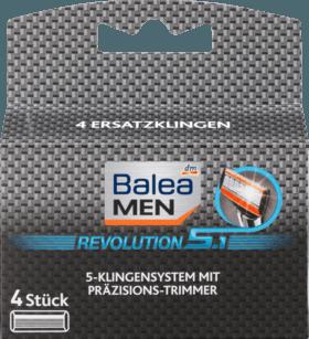 Сменные лезвия для станка Balea men Ersatzklingen Revolution 5.1, 4 шт