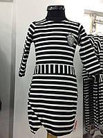 """Платье трикотажное """"морячка"""" для девочки Orko 128-140-152-164  Турция."""
