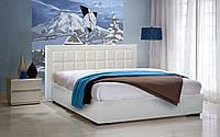 Кровать Спарта в обивке с мягким изголовьем двуспальная