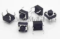 BD15 Кнопка тактовая DIP 4-pin 6 X 6 X 4.3 мм