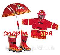 """Резиновые сапоги """"Пожарник"""" 25 Красный"""