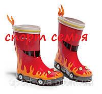 """Резиновые сапоги """"Пожарник"""" 26 Красный"""