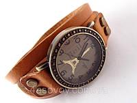 Женские часы Paris коричневый кожаный ремешок, фото 1