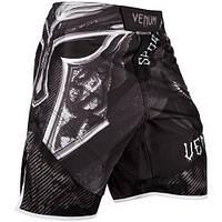 Шорты для MMA Venum Gladiator 3.0 Fightshorts Black White, фото 1