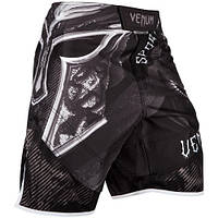Шорты для MMA Venum Gladiator 3.0 Fightshorts Black White, фото 1