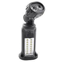 Кемпинговый светодиодный фонарь 509-14SMD+2LM: 14 SMD/2 LM, 4хААА, подвижная голова, магнит, крюк
