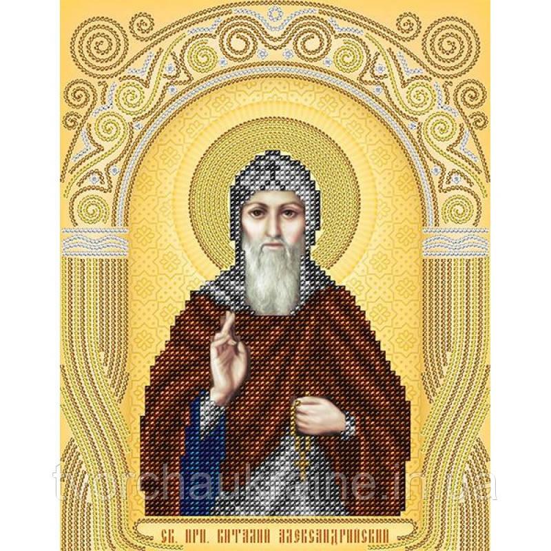Схема на ткани для вышивания бисером Св. Преподобный Виталий Александрийский