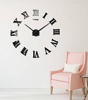 Настенные часы объемные до 80см с римскими цифрами diy сделай сам Черные