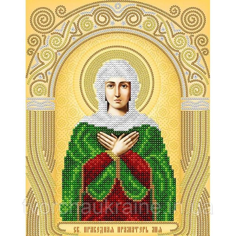 Схема на ткани для вышивания бисером Св. Праведная Праматерь Лия (Лилия)