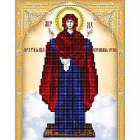 Схема на ткани для вышивания бисером Икона Божией Матери Нерушимая стена