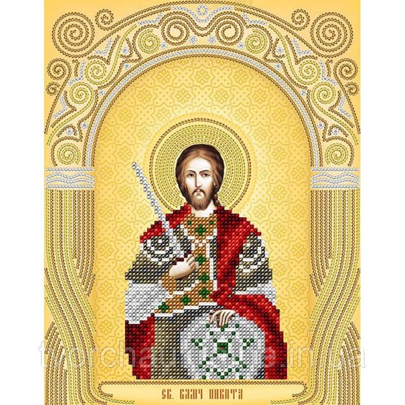 Схема на ткани для вышивания бисером Св. Великомученик Никита