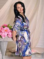 Стильное женское штапельное кимоно для дома хит продаж