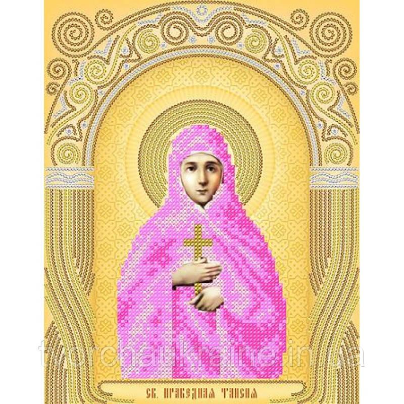 Схема на ткани для вышивания бисером Св. Таисия Праведная