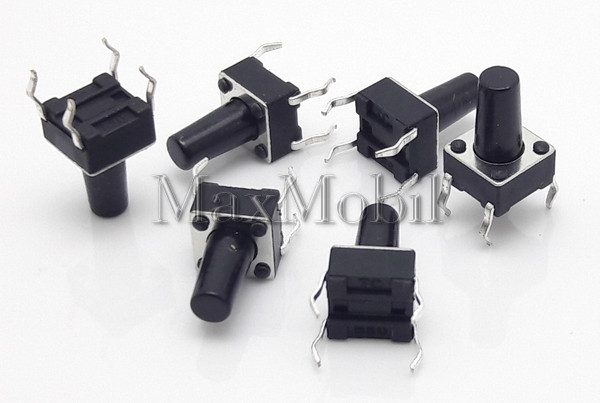 Кнопка тактовая 6 X 6 X 10 мм DIP 4-pin BD19