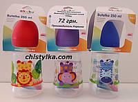 """Бутылочка пластиковая A0319 с широким горлышком, силиконовой соской 250 мл  """"AKUKU"""", фото 1"""