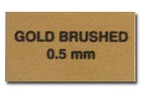 Металл для сублимации - золото мат (шлифованый)