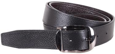 Удобный двухсторонний кожаный женский ремень UK888-50 ДхШ: 120х3,5 см, черный/коричневый