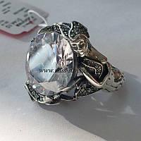 Кольцо серебряное Русалка с большим камнем, фото 1