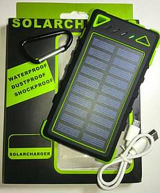 SolarCharger Power Bank 8000mAh + фонарь LED