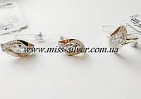 Комплект ювелирных украшений из серебра с золотом Флоренция
