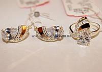 Комплект ювелирных украшений из серебра Джулия