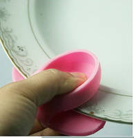 Силіконова прихватки для мікрохвильовки рожевий, фото 1