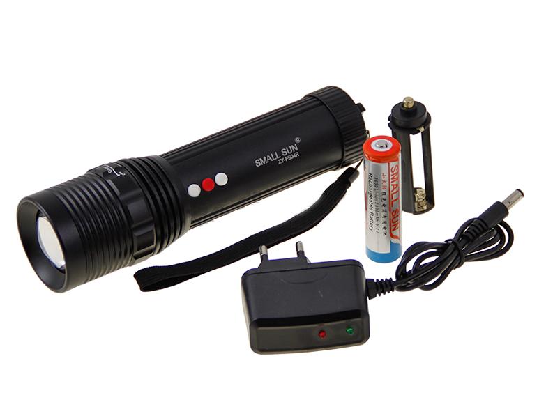 Аккумуляторный светодиодный фонарик Small Sun ZY-F504R 3в1