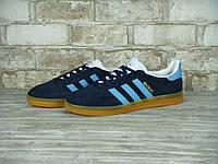 Кроссовки в стиле Adidas Gazelle Indoor Dark Blue мужские