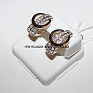 Комплект украшений из серебра с золотом Лакки, фото 2