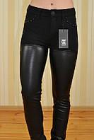 Женские брюки с высокой талией эко-кожа  A.M.N. арт.STYT-948