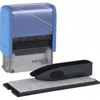 Штамп самонаборный TRODAT Imprint 11, 38*14 мм,  3 строки,  касса: 3 мм  укр+рус,  корпус: синий  (Австрия)