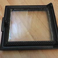 Дверка печная чугунная с жаропрочным стеклом   290*270 мм