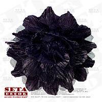 Брошь, заколка черной цветок