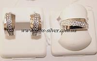 Комплект из серебра с фианитами Сильвия
