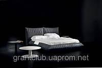 Итальянская кожаная кровать с мягким изголовьем BELLAVITA фабрика ALBERTA для матраса 160х200