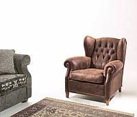 Классическое кресло в английском стиле с ушками OLD ENGLAND фабрика Asnaghi Salotti (Италия)
