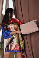 Шелковое халатик - кимоно свободного кроя топ продаж