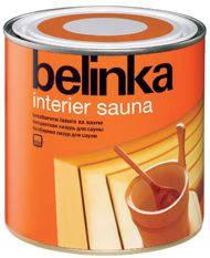 Бесцветная лазурь для саун Belinka Interier Sauna