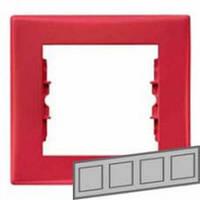 Рамка 4-местная Цвет: красный