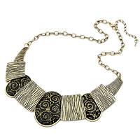 Ожерелье Винтажное с чёрными камнями
