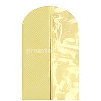 """Чехол для одежды 60х100см из дышащей ткани """"спанбонд"""", прозрачная вставка, цвет шампань"""